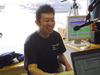 軽快なトークで楽しませていただきました。主将の小川さん